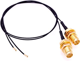 Deal4GO 2Pcs 30cm U.FL IPX4 to RP-SMA Female Antenna Connector IPEX4 MHF4 WiFi Pigtail Cable for M2 NGFF WLAN Card AX200NG...