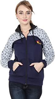 Matelco Women Printed Sweatshirt with Hooded