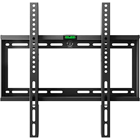 Fixed Tv Wall Mount Bracket For Most 23 55 Inch Led Lcd Plasma Flat Curved Screen Tvs Low Profile Up To Vesa 400x400mm Fits 16 Wall Studs And Loading Capacity 132 Lbs