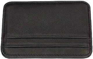 Zfl-flsnsqb Men's Wallet, جلد طبيعي الرجال ضئيلة محافظ بطاقة حامل الذكور محافظ صغيرة سوداء المحافظ رقيقة محفظة