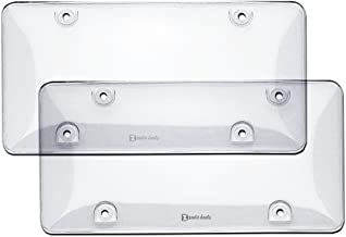 Zento Deals 2 Pieces of Clear Bubble Design Unbreakable License Plate Covers-Heavy-Duty Fits All Standard 6x12 Inches Novelty/License Plates