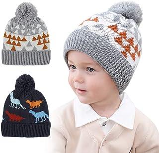 LHTHZHY قبعة صغيرة للشتاء للبنات الرضع، قبعات منسوجة دافئة للرضع، قبعة شتوية للأطفال للأولاد والبنات الصغار