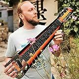 Musoo 6 String Slotted Head Stock Electric Lap Steel Slide Guitar Sunburst Color