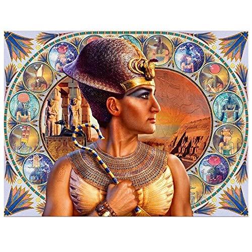 Yingxin34 Rompecabezas para Adultos Rompecabezas de 1000 Piezas para Adultos Rompecabezas de 1000 Piezas Rompecabezas de Hombre Egipcio Antiguo de 1000 Piezas