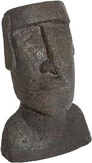 Changlesu 2/pcs Ancienne /Île de P/âques Statue de t/ête Portrait pour Aquarium Maison Bureau D/écoration Accessoires