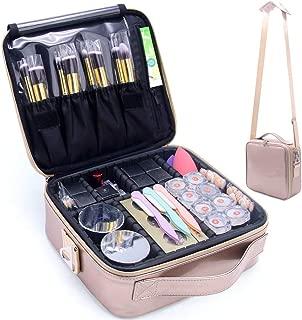 MONSTINA Makeup Travel Case, Makeup Bag Train Case Make Up Organizers Professional Travel..