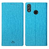 Simicoo Huawei Honor 8X Flip PU Leather Slim Case Card Holster Stand Magnetic Cover Clear Silicone TPU Full Body Shockproof Pocket Thin Wallet Case for Honor 8X (Blue, Honor 8X)