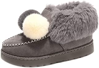 Fulision Snow boots Hairball Women's Winter Warm Plus velvet Ankle Boots