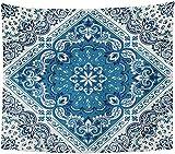 Tapiz Pañuelo Paisley Bandana seda cuello bufanda patrón de pañuelo decoración...