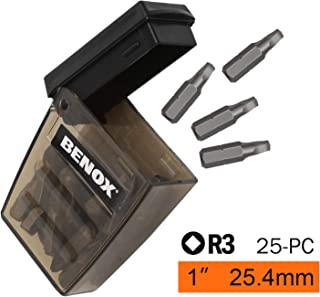 BENOX BX-109095 Square Screwdriver Bits 1Inch (25, SQ3)