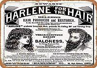 Harlene Hair Producer Restorer メタルポスター壁画ショップ看板ショップ看板表示板金属板ブリキ看板情報防水装飾レストラン日本食料品店カフェ旅行用品誕生日新年クリスマスパーティーギフト