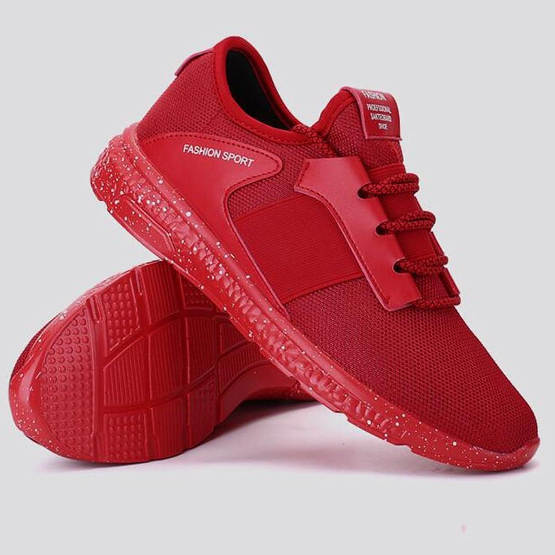 ECSD Teens Frühling Wild Mesh Sport und und Freizeitschuhe Laufschuhe koreanische Version Platte Schuhe (Farbe   3, Größe   EU43 UK9 CN44)  Marke