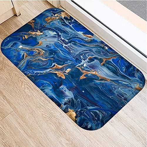 OPLJ Marmor Fußmatte Küchenteppich Anti-Rutsch Nordic Style Bunte Marmor Karte Bottom Door Boden Zimmer Staubdichte Matten A15 60x180cm