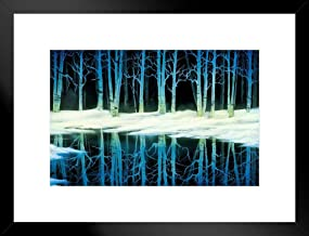 Poster Foundry Bob Ross Snow Birch Art Print Painting by ProFrames 20x26 inches Black 253462