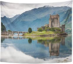 Remain Unique Tapestry Scottish Eilean Donan Castle Loch Duich Scotland UK World..