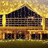 600 LED Lichterkette Eisregen Außen, 6M *3M lichterketten vorhang Weihnachtsbeleuchtung Lichtervorhang mit Steckdose, 8 Modi und Timer Funktion...