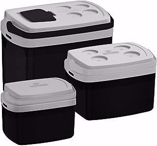 Kit 3 Caixa Térmica 32, 12, 5 L Preta Preto Cooler Soprano