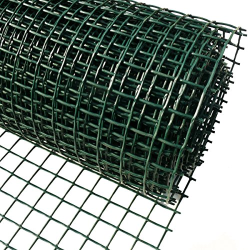 Plastic Garden Fencing 1m x 10m Green 20mm Holes Clematis Netting Mesh - Ideal for Plant, Pet, Vegetable Protection and Climbing Plant Support Net