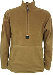 Fleece Pullover, Coyote Brown, USMC Issue, Made in USA