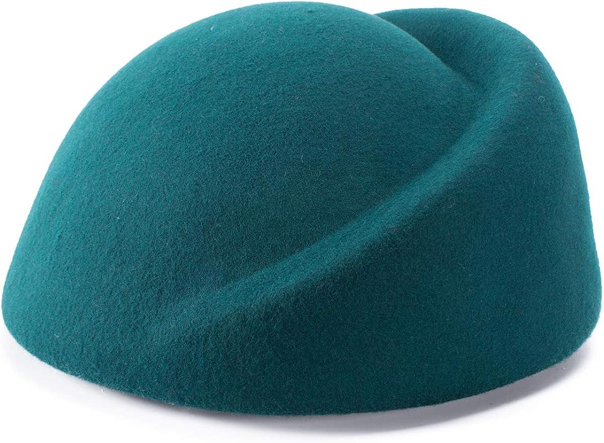 Lawliet Womens 100% Wool Hostess Pillbox Hat Millinery Fascinator Base A137