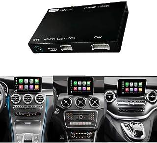 Road Top Umbaukit Decoder mit drahtlosem Apple Carplay Android Auto und Spiegelung, geeignet für Mercedes Benz GLC C V A B Serie W205 W246 W447 X156 C117 X253 C253 2015 2018 Jahr und 12 PCS Car Tools