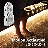 Motion Activated Night Light, illumiForce Under Bed LED Strip Light Kit, Motion Sensor Navigation Light for Your Midnight Trips to Bedroom Bathroom Kitchen and More-Dual Kit Warm White Dimmable