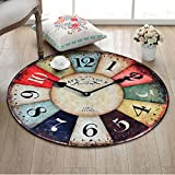 Mesa redonda de café alfombra acogedora alfombra Alfombra de reloj de época Alfombra suave Alfombra de la sala de estar Cesta multifunción Cojín para silla Estera Cojín para cuna ( Color : 180CM )