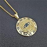 Egyptian The Eye Of Horus Pendentif Collier pour femmes/homm