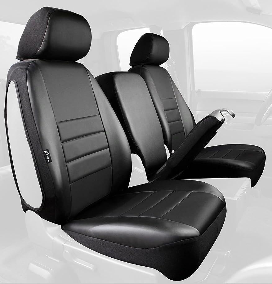 Fia SL68-27 BLK/BLK Custom Fit Front Seat Cover Split Seat 40/20/40 - Leatherette (Solid Black) rbuq6231715147
