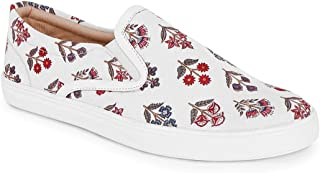 KANVAS Men White Printed Sneakers