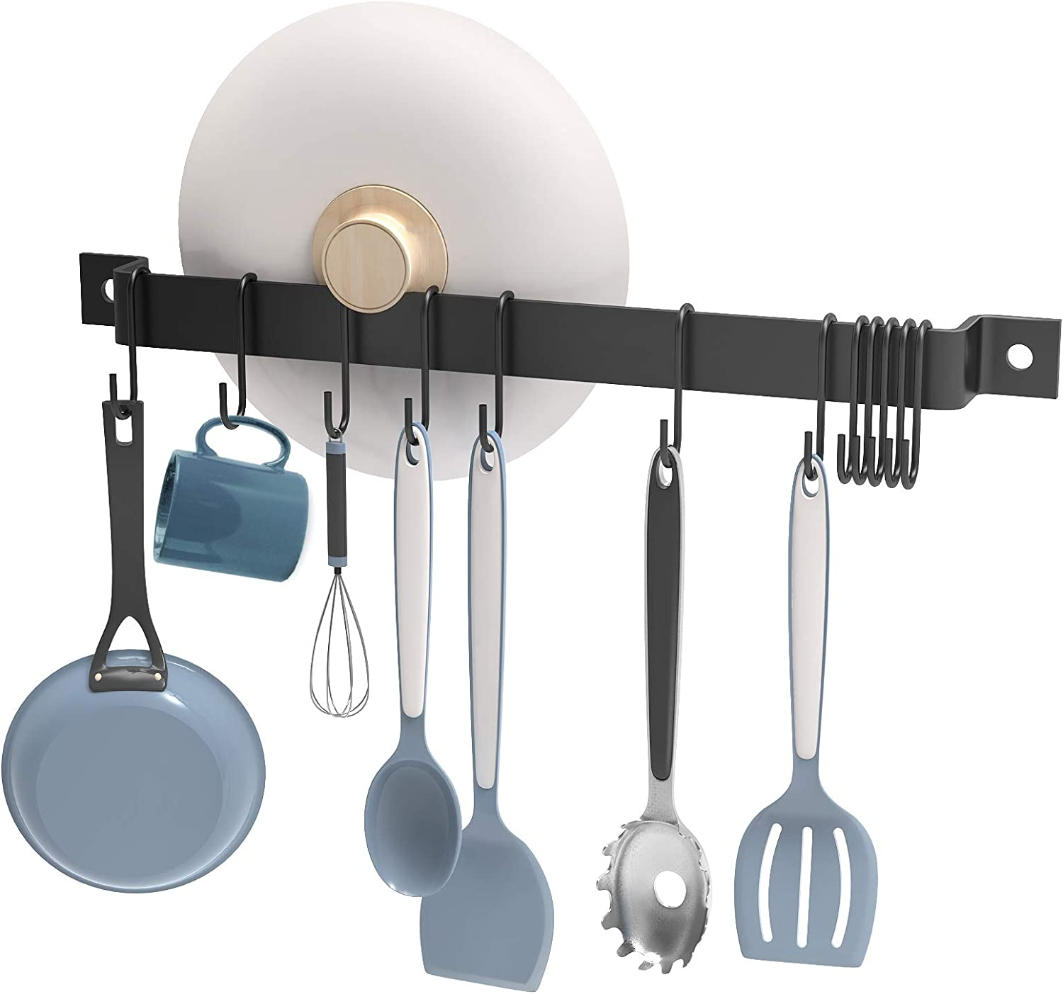 Nuovoware 16.3 Inch Kitchen Rail Rack S Max Cheap mail order sales 71% OFF Detachable 15 with Hooks