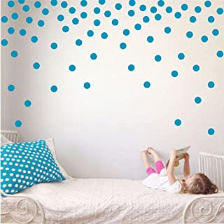 Polka Dot Circles Vinyl Wall Decor Stickers - Easy DIY Peel & Stick Removable Decorative Room Decals [Set of 160] (Teal, 1.1 inch dots)