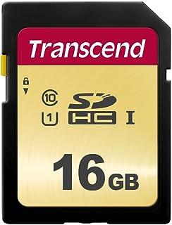 Transcend 16GB SDXC/SDHC 500S Speicherkarte TS16GSDC500S / bis zu 95 MBs lesen und 65 MBs schreiben
