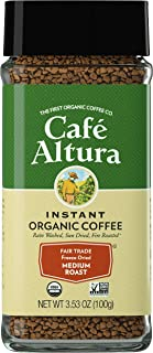 Cafe Altura Freeze Dried Instant Organic Coffee, Original, 7.06 Oz, Pack of 2