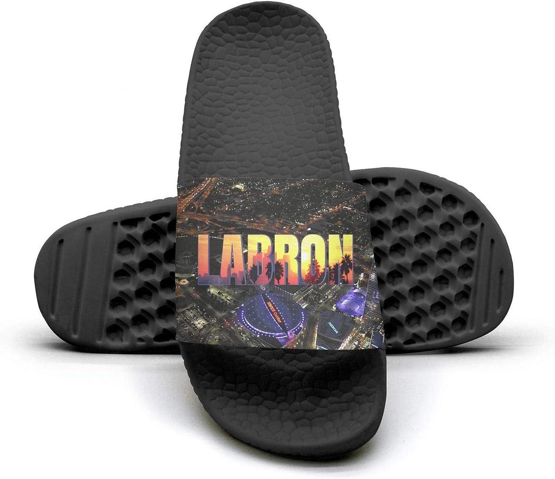 ADIDII Womens Printed Non-Slip Slipper Slide flip Flop Sandals La_Bron_Yellow_Logo_Basketball Summer Soft