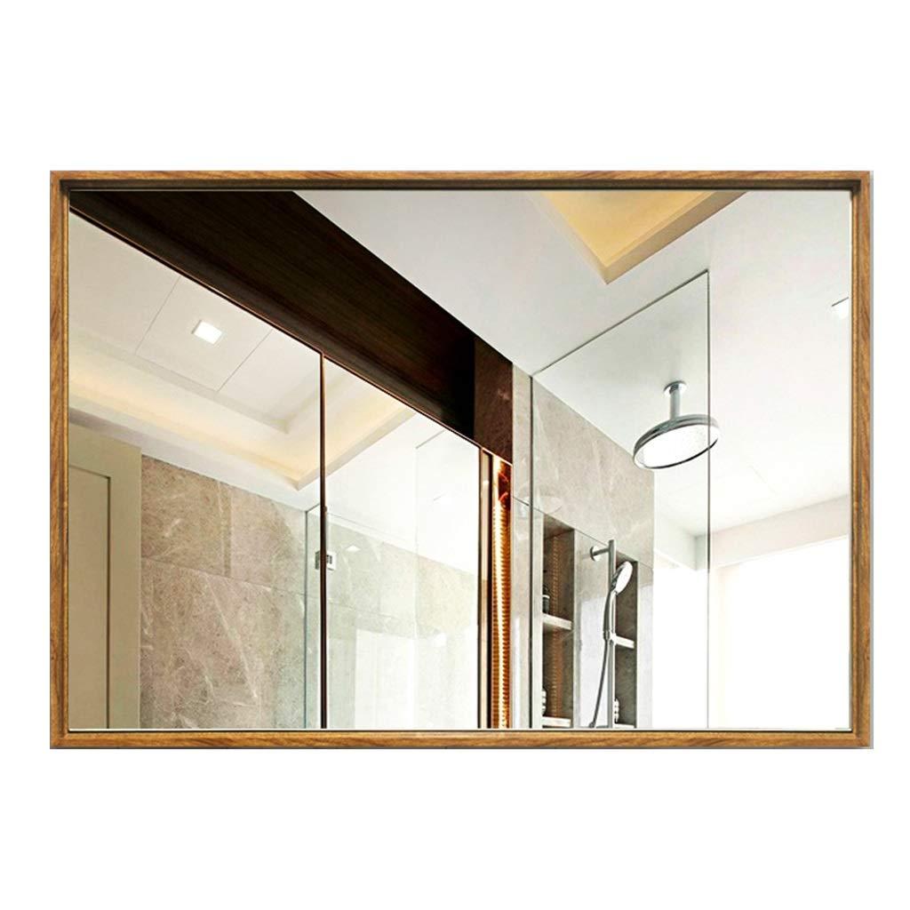 Household necessities / Montado en la pared del estante elegante baño montado en la pared cuadrado de espejo montado en la pared de espejo tocador con la frontera tocador de baño montado