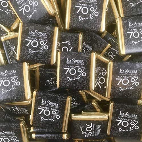 Cioccolatini Fondenti Extra 70% Napolitains La Suissa Kg 1 - Cioccolatini di Cortesia Senza Glutine