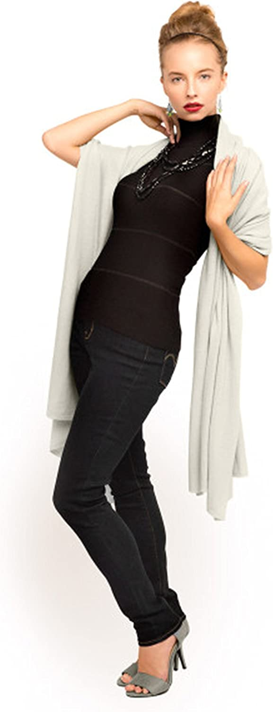 Anna Kristine Oversized Pure 100% Cashmere Scarf Shawl Wrap  Ivory
