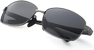 ELIVWR - Gafas de Sol Hombre Rectangulares Polarizadas -Conducen/Corren/Moto, 100% de Protección Contra Los Rayos UVA/UVB Dañi