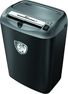 Fellowes Powershred 75Cs 12-Sheet Cross-Cut Paper and Credit Card Shredder with SafeSense Technology (4675701),Black