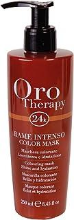(copper) - Fanola mask Colour copper gold THERAPY 24K Colour Mask 250 mL - colouring mask - shine moisturising - Aviva colour - illuminated reflections - professional