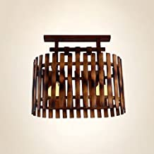 Ceiling Lamps, Retro Bamboo Shade, LED Lighting Effect Is Good, Suitable For Living Room / Coffee Shop / Restaurant, E27 B...
