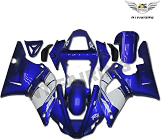 NT FAIRING White Blue Injection Mold Fairing Fit for Yamaha 2000 2001 YZF R1 R1000 YZF-R1 New Painted Kit ABS Plastic Motorcycle Bodywork Aftermarket