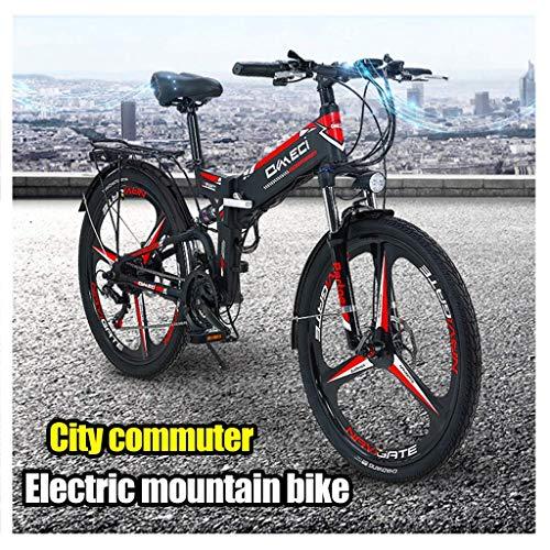 LHQ Bicicleta eléctrica, suspensión Plegable Montaña Bicicleta eléctrica Prima Completa con Las...