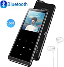 $27 » 16GB MP3 Player with Bluetooth 4.1, HiFi Lossless Sound Music MP3 Player with FM Radio, Pedometer, Voice Recorder, E-Book, Supports up to 128GB, Earphone Included, Built-in Speaker