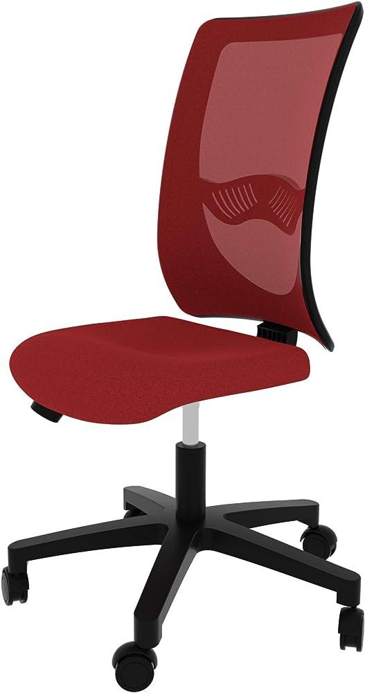 Levira apollo, sedia da scrivania, ergonomica, girevole, seduta in tessuto di nylon e uno schienale in rete ROSSA