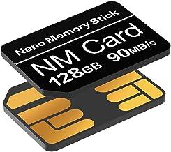 Tarjeta NM 128GB 90MB/S Tarjeta de Memoria Nano Tarjeta Nano Solamente Adecuado para Huawei P30/P30pro/Mate20 Series/Mate30 Series/P40 Series Tarjeta Nano 128GB