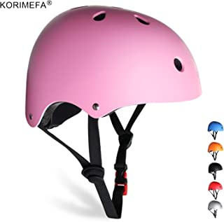 KORIMEFA Kids Helmet 3-8 Years Toddler Helmet Set Kids Bike and Skateboard Helmet with Knee Pads Elbow Pads and Wrist Guards for Cycling Scooter Rollerblading Kids Protective Gear