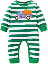 0-3 Months Baby Girl Boy Clothes,Infant Baby Boys Girls Halloween Cartoon Pumpkin Striped Romper Jumpsuit Clothes