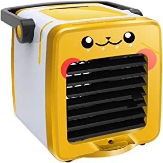 Abelei 2019 New USB Chargeable Portable Multifunction Air Cooler Fan Small Air Conditioning Fans Space Mini Arctic Quiet Personal Appliances For Home Office Outdoor Travel (Yellow)
